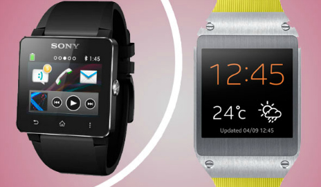 Samsung Galaxy Gear and Sony SmartWatch 2