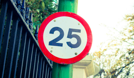 25mph speed limit