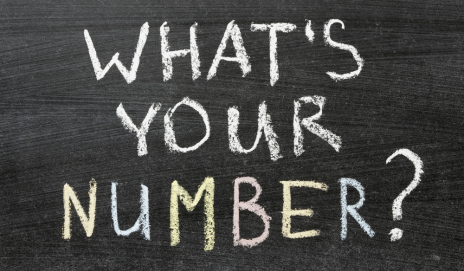 What's your number? written on chalk board