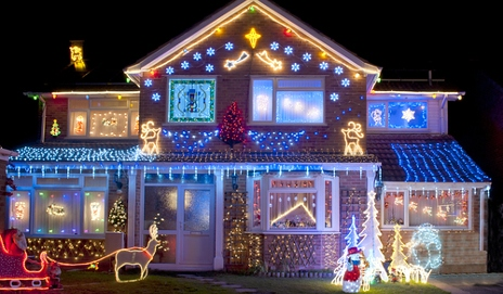 My neighbour's Christmas lights are driving me crazy ...