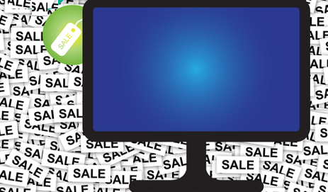 TV with sale price tag