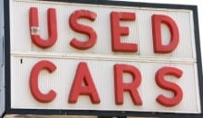 Used Hybrid Cars Sign