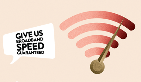 Broadband campaign illustration