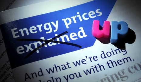 Energy prices up