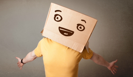Smiley face on box