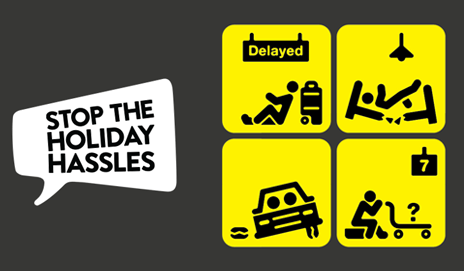 Holiday hassles illustrations