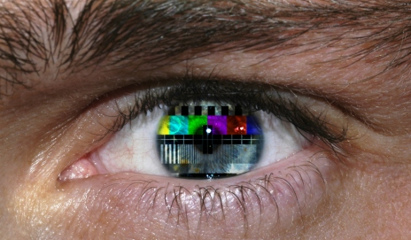TV in eye