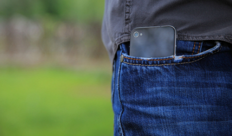 iPhone in pocket