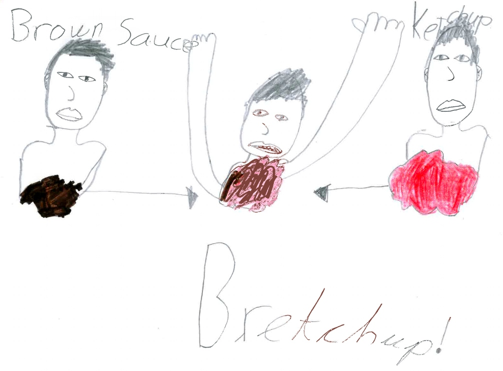 Harry's drawing of bretchup