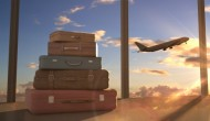 flights with suitcases