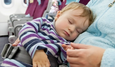 Baby on flight
