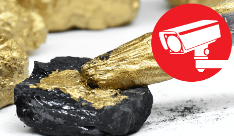 Coal painted gold