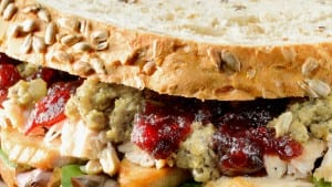 Christmas turkey sandwich