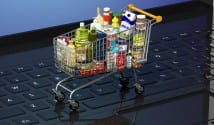 shopping trolley, groceries