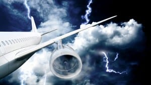 plane lightning, delays, compensation, flight