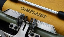 Complaint written on typewriter