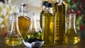 Bottles of olive oil