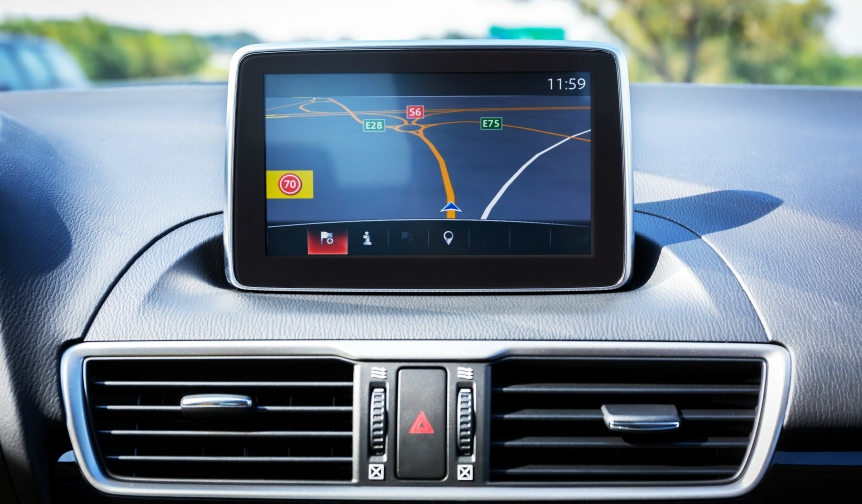 Built-in sat nav