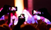 Smartphones recording at a live event