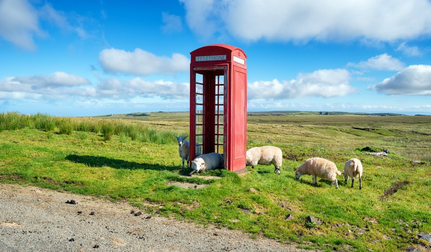 Remote red phone box