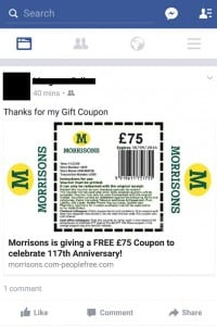 Morrisons promotion scam