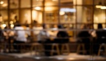 Blurred restaurant
