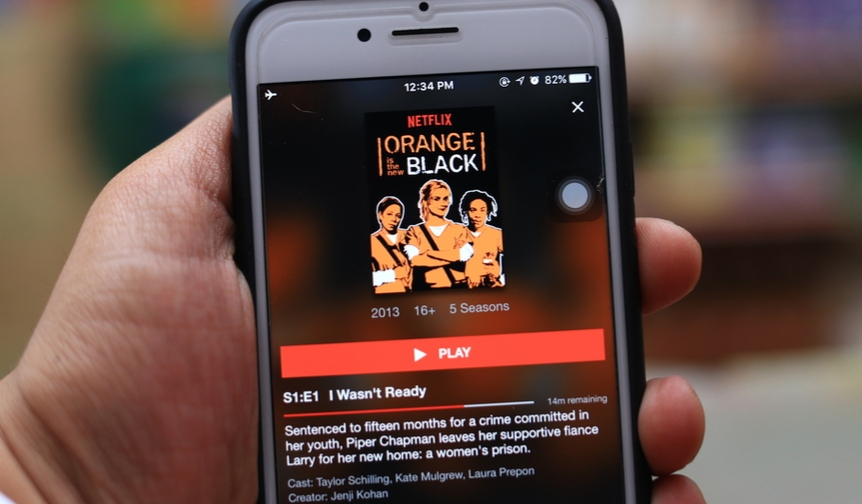 Orange is the new black on a mobile device