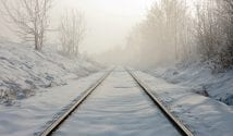 snow on tracks